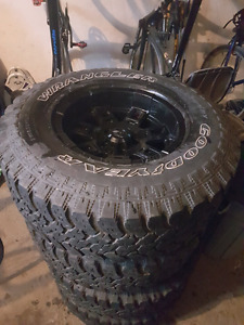 31 inch Goodyear tires with Mickey Thompson rims MINT CONDITION