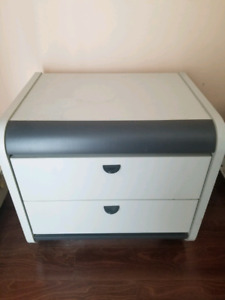 Light / Dark Grey bedside tables - solid wood