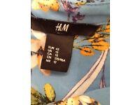 H&M chiffon feel sleeveless shirt size 14 pristine