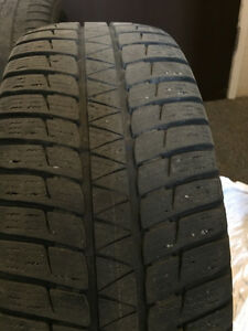 winter tires 225-55R17 on rims Prince George British Columbia image 1