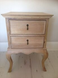 Bedside cabinet solid wood SCHREIBER 2 draw New