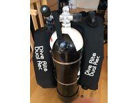 12L steel cylinder dive set up