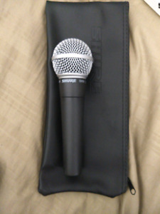 Shure sm 58 mic new used once