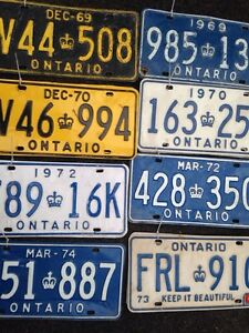 License plates Kitchener / Waterloo Kitchener Area image 1
