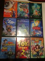 Plusieurs DVD Disney