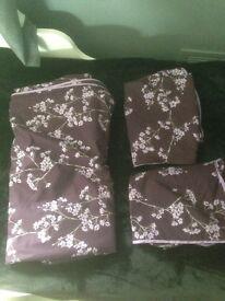Purple double duvet cover.