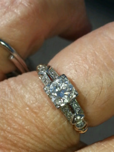 ART DECO Diamond ring .50 center