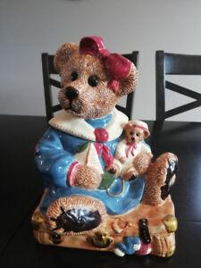 Jarre à biscuits Ourson de la collection Boyds