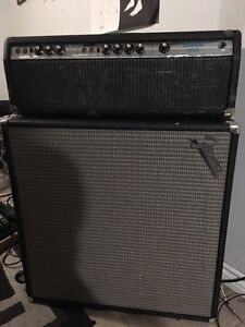 Early 70s Fender Bassman 100 head with cab  Cambridge Kitchener Area image 1