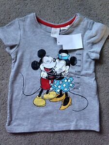 NEW with Tags H&M Mickey/MINNIE shirt, 9-12 months. $7.