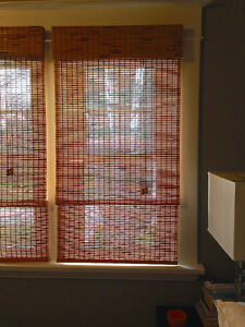 4 Bamboo Roman Window Shades
