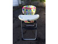 Chicco high chair good condition £15