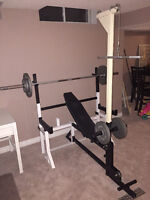 Olympic Weight Set - Bench - Squat Rack - Incline - Rowing
