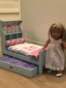 American girl bed/Pottery Barn Doll