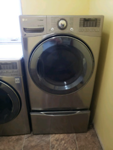 Washer and dryer stainless steel