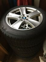 BMW X5 OEM rims with winter tires
