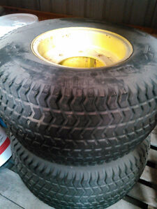 Used Front and Rear John Deere Tractor Turf Tires