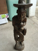 African Carved Wood Sculpture. Two pieces for only $15.