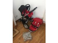 Quinny buzz red pushchair /travel system