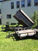 Junk Removal or Hauling services with industrial dump trailer SJ