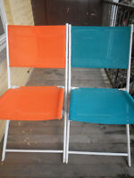 2 chaises de terrasse / 2 chairs for the balcony