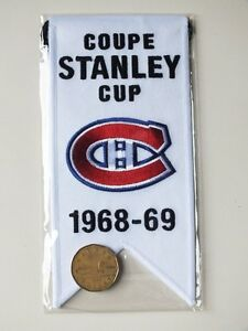 CENTENNIAL STANLEY CUP 1968-69 BANNER MONTREAL CANADIENS HABS Gatineau Ottawa / Gatineau Area image 2