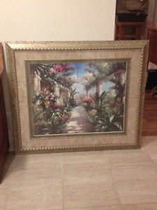 Framed Garden Charm Artwork by James Reed