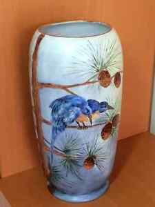 Vase - Hand Painted with Gold Trim