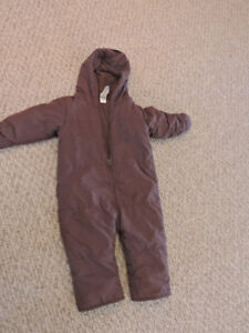 Zippered Snow Suit 12-18 Months