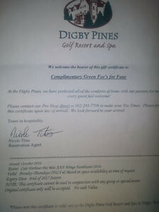 DIGBY PINES GOLF FOR 4 PEOPLE