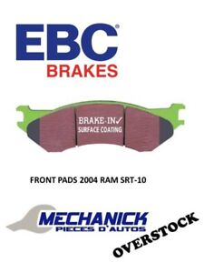 EBC FRONT BRAKE PADS 2004 Dodge Ram SRT-10 GREEN STUFF