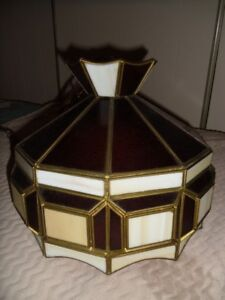 Hand Crafted- stained glass swag lamp