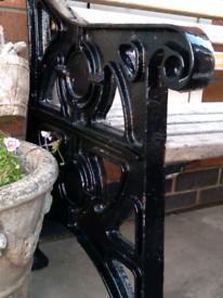 Solid vintage garden 7ft bench