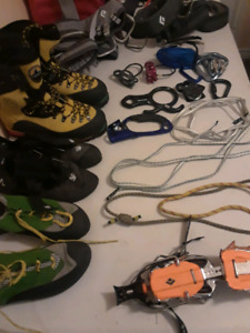 Rock and ice climbing gear