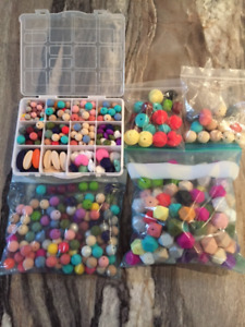 Assorted Silicone Teething Beads, Pendants & Accessories