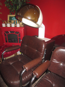 beauty parlor chairs  like new and other things