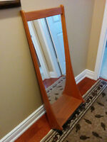 Mid Century Teak - Mirror with Shelf - $200 OBO