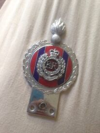 BARGAIN, vintage, antique, collect able Royal engineers car badge by gaunt