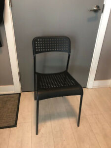 IKEA Chair ADDE black - used less than 1 year (2 for 1 price)