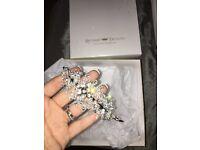 Bridal side tiara headband