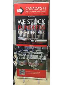 FREE SHIPPING Retractable Roll Up Banners, ONLY $109