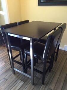 High kitchen / dining table and chairs