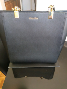 Calvin Klein Safiano leather purse
