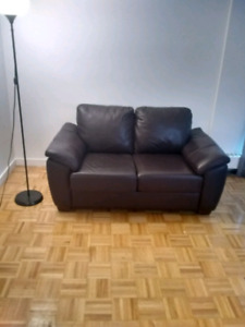 Chesterfield Shop- Gently Used Leather Loveseat and Recliner