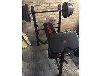Adidas bench, EZ bar & 100Kg weights
