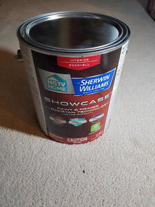 Unused Pail of Sherwin-Williams Showcase Paint and Primer