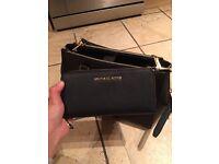 Michael Kors patent black purse