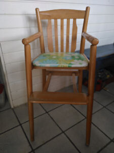 High chair, classic , solid maple, unique