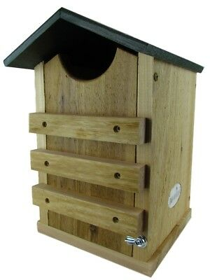 Screech Owl or Saw-Whet Owl House Cedar Nesting Box with Poly Lumber Roof