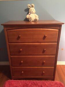 Chest of drawers and hutch